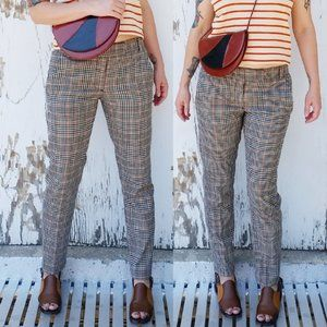 Retro Style Plaid Trousers (size: 6)